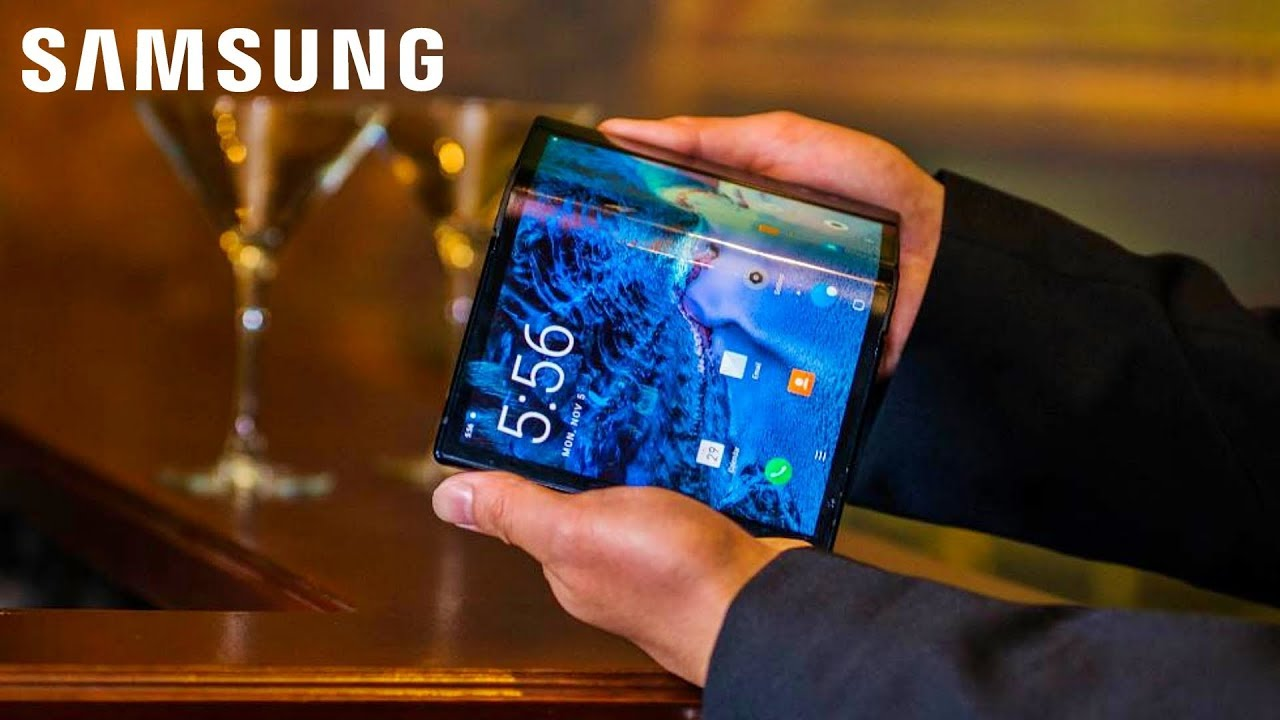 Photo of Samsung's foldable Galaxy Flex smartphone