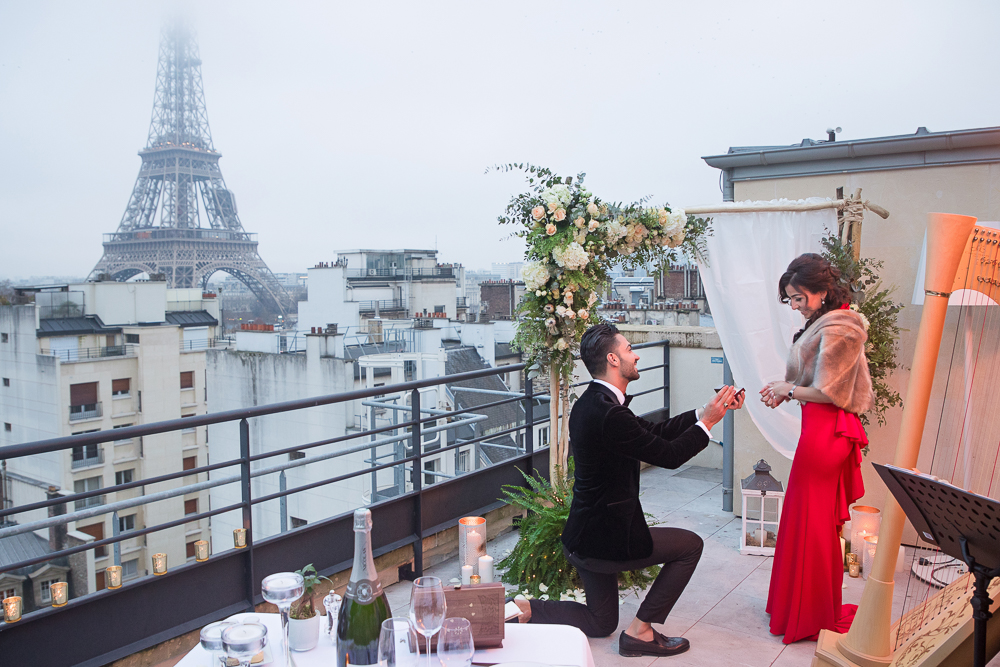 Photo of Get Best Photographer When You Plan A Roof Top Paris Proposal
