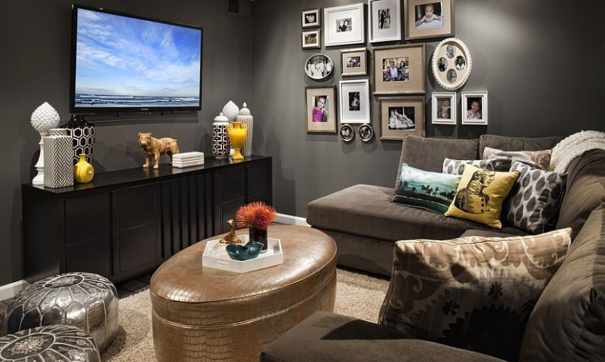 Perfect shade of gray for the dark and moody TV room 870x520 1