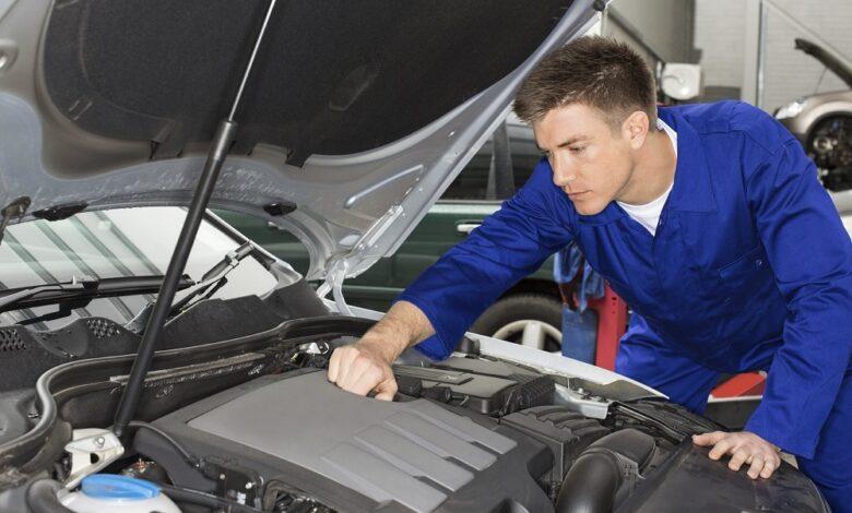car auto engine under hood 1