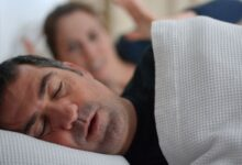 man snoring wife irritated 768 3
