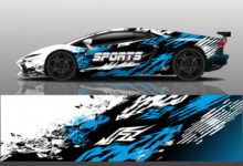 sport car decal wrap illustration 153744 7506